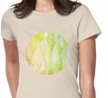 Lemon & Lime Love - abstract painting in yellow & green Womens Fitted T-Shirt