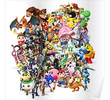 Super Smash Bros characters Poster