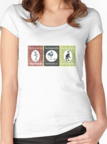 Wizard of Oz Tinman Cowardly Lion Scarecrow Women's Fitted Scoop T-Shirt