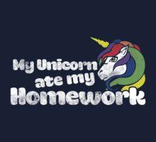 My unicorn ate my homework One Piece - Short Sleeve