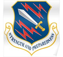 21st Space Wing, USAF, Crest Poster