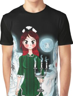 Grim Grinning Ghost Graphic T-Shirt