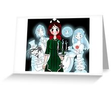 Grim Grinning Ghost Greeting Card