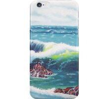 Oregon Seascape 84 oil painting  iPhone Case/Skin
