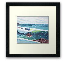 Oregon Seascape 84 oil painting  Framed Print