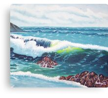 Oregon Seascape 84 oil painting  Canvas Print