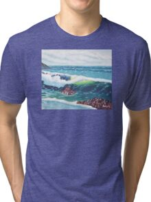 Oregon Seascape 84 oil painting  Tri-blend T-Shirt