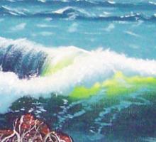 Oregon Seascape 84 oil painting  Sticker