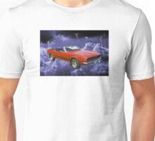 1967 Convertible Red Camaro And Thunderstorm Unisex T-Shirt
