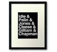 Monty Python Super-fan Framed Print