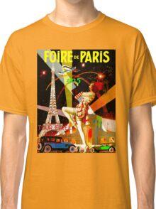 """PARIS"" Vintage Bastille Day Advertising Print Classic T-Shirt"