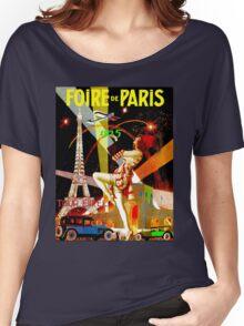 """PARIS"" Vintage Bastille Day Advertising Print Women's Relaxed Fit T-Shirt"