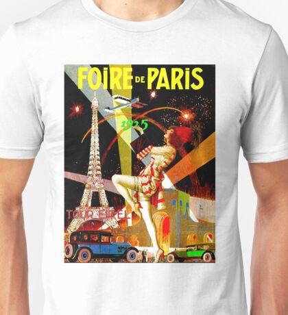 """PARIS"" Vintage Bastille Day Advertising Print Unisex T-Shirt"