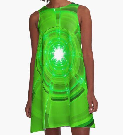 Green Scope A-Line Dress
