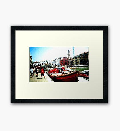 venetian sky Framed Print