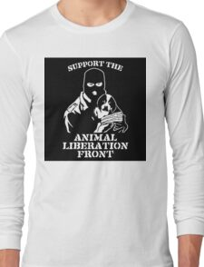 """""""Support the Animal Liberation Front"""" Long Sleeve T-Shirt"""