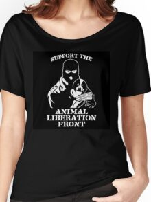 """Support the Animal Liberation Front"" Women's Relaxed Fit T-Shirt"