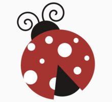 Ladybug (Ladybird, Lady Beetle) - Red White Kids Tee