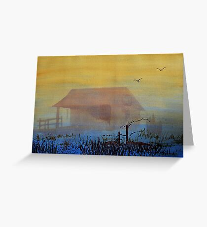 Dusk Lake Greeting Card