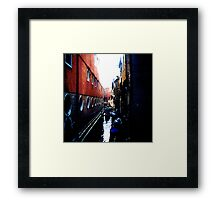 wet alley Framed Print
