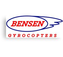 Bensen Gyrocopters - What can go wrong? Canvas Print