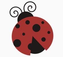 Ladybug (Ladybird, Lady Beetle) with Dots - Red Kids Tee