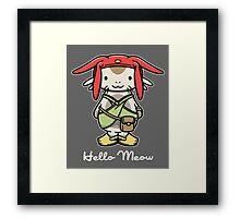 'ello Meow Framed Print