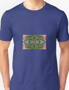 Red Poppy & White Flower Fractal (Single) Unisex T-Shirt