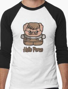 Hello Porco Men's Baseball ¾ T-Shirt