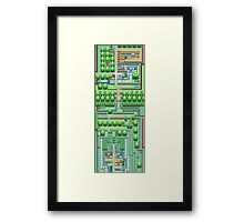 Pokemon Town Framed Print