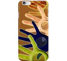 hand holes iPhone Case/Skin