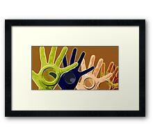 hand holes Framed Print