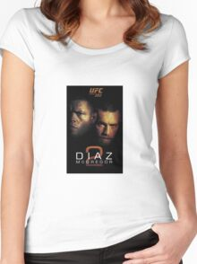 Ufc 202 Nate Diaz Conor McGregor Who ya Got Women's Fitted Scoop T-Shirt