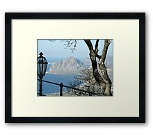 Seaside Landscape Framed Print