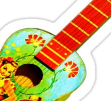 angled guitar Sticker