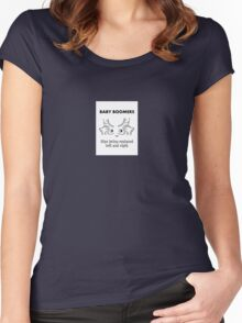 Baby Boomers – Hips being replaced left and right Women's Fitted Scoop T-Shirt
