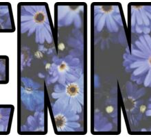 Tennis Flowers Sticker