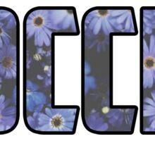 Soccer Flowers Sticker