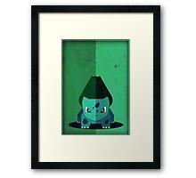 Pokemon - Bulbasaur #001 Framed Print