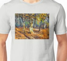 Booker Woods and light spills around the trees. Unisex T-Shirt