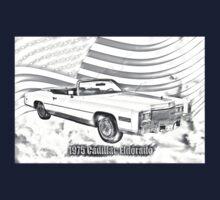 1975 Cadillac Eldorado Convertible Illustration Kids Tee