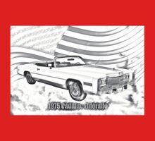 1975 Cadillac Eldorado Convertible Illustration One Piece - Long Sleeve