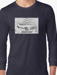 1975 Cadillac Eldorado Convertible Illustration Long Sleeve T-Shirt
