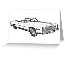 1975 Cadillac Eldorado Convertible Illustration Greeting Card