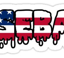 Baseball American USA Sticker