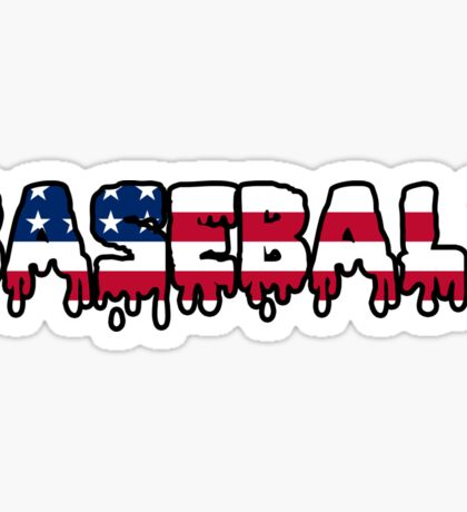 Baseball American USA Sticker