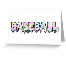Baseball Trippy Greeting Card