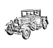 1930 Model A Ford Pickup Truck Illustration Photographic Print
