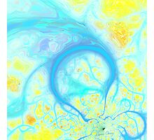 Streams of Joy - Cosmic Aqua & Lemon Photographic Print