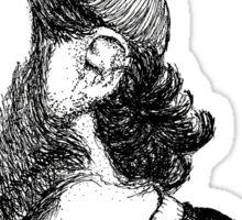 Chet Faker Stipple Drawing Sticker